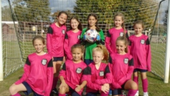 Girls football team off to a flying start!