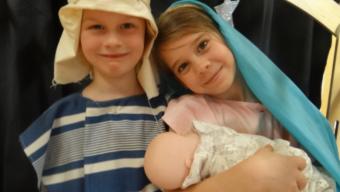Infants enjoy a Wriggly Nativity