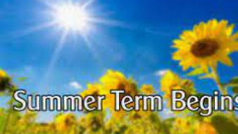 Welcome to the Summer Term
